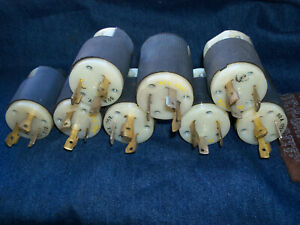 lot of 8  used HUBBELL 231A 30A 125V TWIST LOCK MALE PLUG