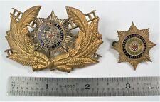 1950's Firefighter Badge British Fire Services Association CAP BADGE& LAPEL PIN