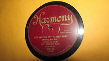 THE MELODY MEN HARMONY 78 RPM RECORD 500 JUST ANOTHER DAY WASTED AWAY