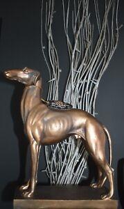 Windhund Figur Hund  Skulptur Hündin Statue Kunststein