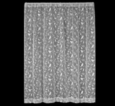"Heritage Lace White BRISTOL GARDEN Curtain Panel 84""L - Birds, Vines"