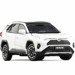 1:32 Toyota RAV4 SUV Model Car Diecast Toy Vehicle Kids Gift Sound & Light White