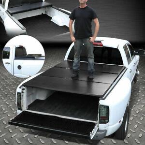 Fit's 09-18 Dodge Ram Truck 6.5ft Bed Aluminum Frame Tri-Fold Hard Tonneau Cover