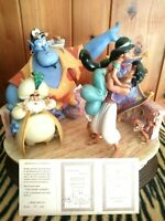 Laurenz Capodimonte Disney ALADDIN Ltd.Ed. Figurine,GROUP HUG #LZD-75, New, Mint