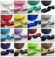 "New 5 10 20 Yards 50mm 2"" Satin Ribbon Multi-Purposes Wedding Party 20 Colors UK"