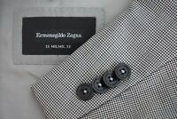 Ermenegildo Zegna 15MILMIL15 CURRENT Milano Gray Plaid Wool 2 Pc Suit Sz 44L