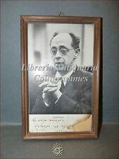 Ritratto di Rudolf Serkin Dentro Cornice con Dedica Autografa del Pianista 1968