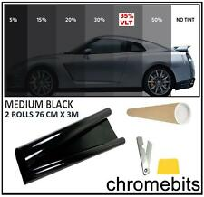 CAR VAN OFFICE WINDOW TINT FILM TINTING MEDIUM BLACK SMOKE 35% 76cm x 6M