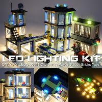 ONLY LED Light Lighting Kit For LEGO 60141 City Series Police Station Bricks Toy