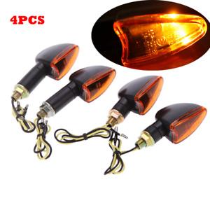 4pcs 12V Motorcycle Bike Bulb Amber Front & Back Turn Signal Indicator Light New