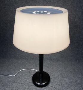 "Vintage Lightolier Mid Century Style 22"" Table Lamp White on Black In EUC"