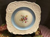 """Six Washington Colonial Plates Made In USA 3 Plnk And 3 Blues 7.34"""""""