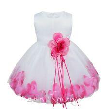 Bebé Niña Princesa Vestido Con Flor Sin Mangas Fiesta Formal Boda Dama De Honor