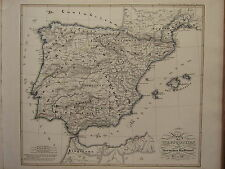 1846 SPRUNER ANTIQUE HISTORICAL MAP ~ KINGDOM OF VISIGOTHS IBERIA SPAIN 477-711