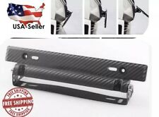 Adjustable Carbon Fiber Car Auto Universal License Plate Holder Frame Bracket