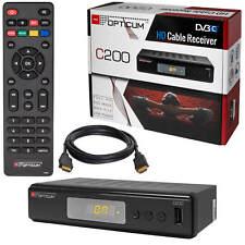 Digital Kabelreceiver TV Receiver DVB-C HDTV Opticum C200 USB SCART + HDMI Kabel