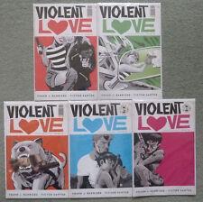 VIOLENT LOVE #1-5 SET..FRANK J. BARBIERE/VICTOR SANTOS..IMAGE 2016 1ST PRINT..NM