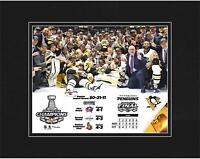 """Pittsburgh Penguins 2017 Stanley Cup Champions 8"""" x 10"""" Matted Photo - Fanatics"""