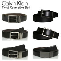 Calvin Klein Men's Genuine Leather Twist Reversible Belt