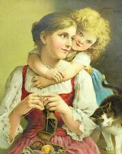 1880's Lovely My Mamma Dr Jayne's Thos A. Harkins, Pleasantville Trade Card F88