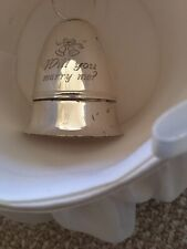Engagement Ring Box Silver Engraved With Basket~New~