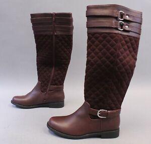 Shoedazzle Women's Cheyanne Mixed Material Boot TM8 Port Royale Size US:7 UK:5