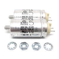 Hydra Motorkondensatoren 5μF für Grundig TS1000 (2er Set)  5uF, Lötösen, Ersatzt