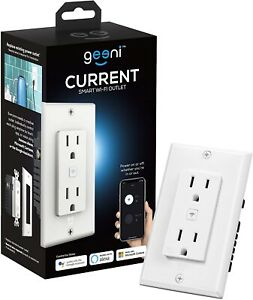 Geeni 15 Amp 125-V 2-Outlet Tamper Resistant In-Wall Smart Wi-Fi Receptacle