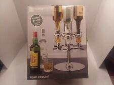 JC PENNEY Home Collection 6 BOTTLE Rotating Liquor Carousel Shot Shooter mancave