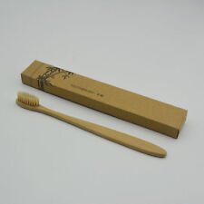 1Pc Bamboo Toothbrush Charcoal Soft Bristle Wooden Handle Eco-friendly Oral Care