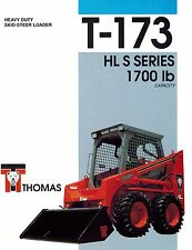 "THOMAS T173 HL 'S' Series  SKID  STEER LOADER BROCHURE ""NEW"""