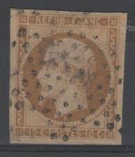 "FRANCE STAMP TIMBRE N° 9 "" NAPOLEON 10c BISTRE JAUNE 1852 "" OBLITERE TB  M860"