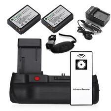Battery Grip For Canon EOS 1100D 1200D 1300D Rebel T3 T5 T6 + 2 LP-E10 Batteries