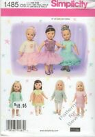 "Pattern Simplicity fits 18"" in Doll Clothes Girl Dance Designed by Elaine Heigl"