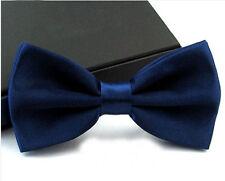 Men's Fashion Tuxedo Satin Plain Solid Color Adjustable Wedding Bowtie Bow Tie