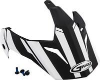 GMAX VISOR VERTICAL BLACK/WHITE W/SCREWS GM-11 G011087
