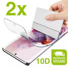 2x Panzer Folie Schutz 10D Samsung Galaxy S9 S10 S20 S21 Plus Ultra Note 9 10 20