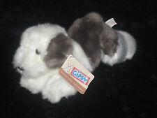 Doudou Peluche Chien fourrure blanc marron gris Gipsy 24cm Plush Collection Neuf