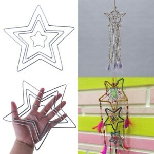 Star Metal Dream Catcher Dreamcatcher Ring Macrame Craft Hoop DIY Accessories