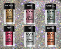 NYX GLITTER Powder Face & Body Pigment Eyeshadow Shimmer Sparkle Eyes Shadow New