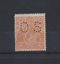 1920/1 Australia KG V SG 071 2d Single Wmk Orange OS mlh