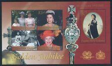 2002 PAPUA NEW GUINEA QEII GOLDEN JUBILEE MINISHEET FINE MINT MNH