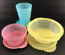 Tupperware Large Spring Lunch Set Tumbler + Stuffables + Flat Out Pastel New