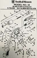 Exploded View Smith & Wesson Model No. 10 .38 Military & Police K Frame .38 Cali