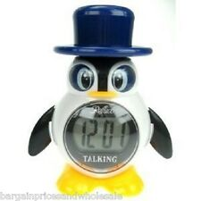 Reflex LCD Talking Alarm Clock Digital Great For Blind And Partially Penguin