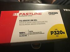 "Fastline by Sherwin Williams Commercial 6"" PSA Sanding Discs P320 Grit 100 Roll"