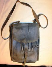 Collectible German Leather Military Map Tablet Planshet Bag  26x18cm 10.5x7inche