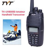 TH-UV8000D 10Watts Dual Band Handheld 2-Way Amateur Ham Radio 3600mAh High Power