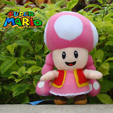 "Super Mario Run Toad Toadette 7"" Plush Toy Stuffed Animal Doll Mario Bros Game"