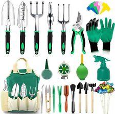 AOKIWO 83 Pcs Garden Tools Set Succulent Tools Set Heavy Duty Aluminum Green